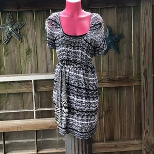 Laundry Fully Lined Short Sleeve Sweater Dress M